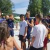 Jovens do Campo de Férias conhecem jogadores de andebol do Futebol Clube do Porto