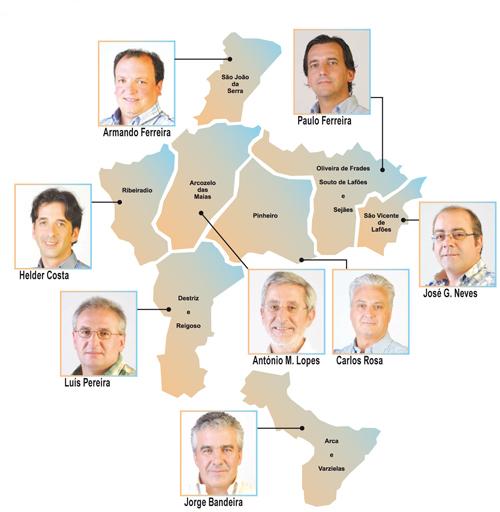 oliveira de frades mapa Mapas das freguesia em Lafões ficou mais rosa | Gazeta da Beira oliveira de frades mapa